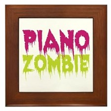 Piano Zombie Framed Tile