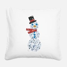 Snow-BLING-man Square Canvas Pillow