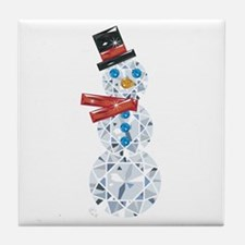 Snow-BLING-man Tile Coaster