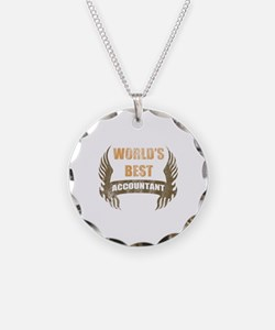 World's Best Accountant (Wings) Necklace