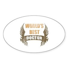 New World's Best Doctor (Wings) Decal