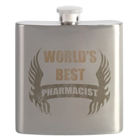 World's Best Pharmacist (Wings) Flask