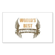 World's Best Pharmacist (Wings) Decal