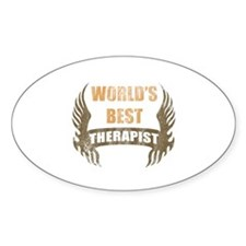 World's Best Therapist (Wings) Decal