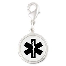 EMS Star Of Life Silver Round Charm