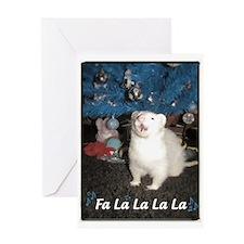 Caroling Ferret Greeting Card