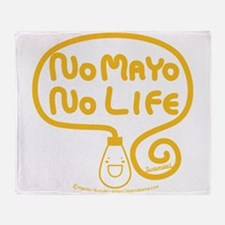 No Mayo No Life Throw Blanket