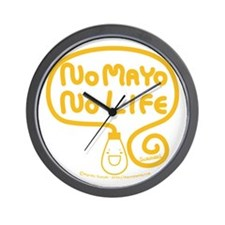 No Mayo No Life Wall Clock