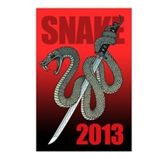 2013snake1 Postcards (Package of 8)