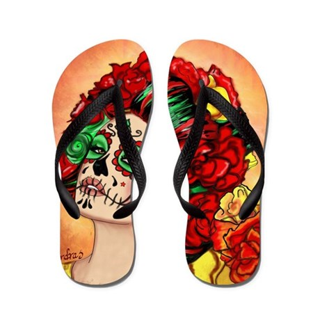 Muertos Amor Flip Flops