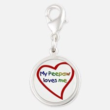 Peepaw Silver Round Charm