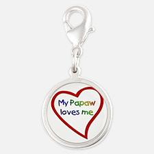Papaw Silver Round Charm