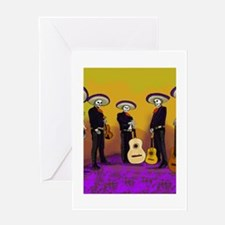 Mariachi Dia de los Muertos Band Greeting Card