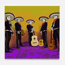 Mariachi Dia de los Muertos Band Tile Coaster