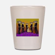 Mariachi Dia de los Muertos Band Shot Glass