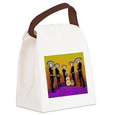 Mariachi Dia de los Muertos Band Canvas Lunch Bag