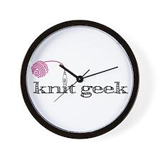 Knit geek Wall Clock