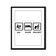 Waste Collecting Framed Panel Print