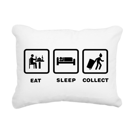 Waste Collecting Rectangular Canvas Pillow