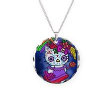 Katrina Kitty Necklace Circle Charm