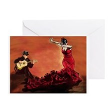 Flamenco Dancer and Guitarist Greeting Card