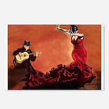 Flamenco Dancer and Guitarist Postcards (Package o