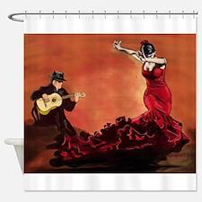 Flamenco Dancer and Guitarist Shower Curtain