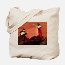 Flamenco Dancer and Guitarist Tote Bag