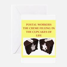 postal worker Greeting Card