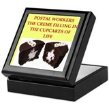 Post office worker Square Keepsake Boxes