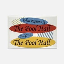 What Happens In The Pool Hall Rectangle Magnet