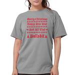 Xmas bull Womens Comfort Colors Shirt