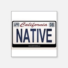 California License Plate Sticker - NATIVE Sticker
