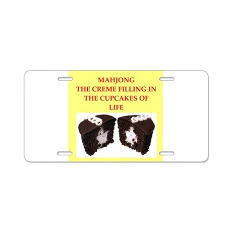 mahjong Aluminum License Plate
