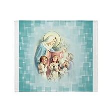 PrayforusOHolyMotherofGod Throw Blanket