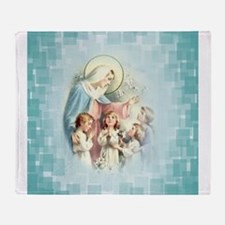 PrayforusOHolyMotherofGod Throw Blanket
