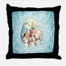 PrayforusOHolyMotherofGod Throw Pillow