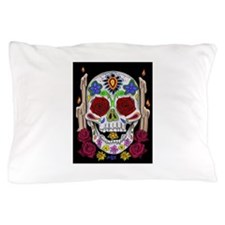 Dia de Los Muertos Skull Pillow Case