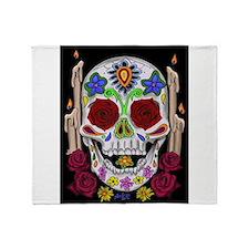 Dia de Los Muertos Skull Throw Blanket