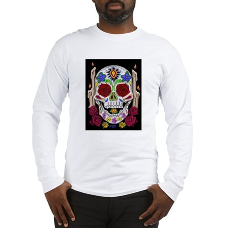 Dia de Los Muertos Skull Long Sleeve T-Shirt