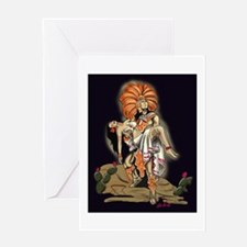 Aztec Warrior and Maiden Greeting Card