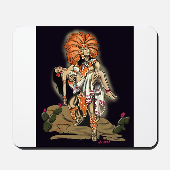Aztec Warrior and Maiden Mousepad