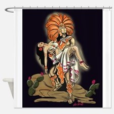 Aztec Warrior and Maiden Shower Curtain