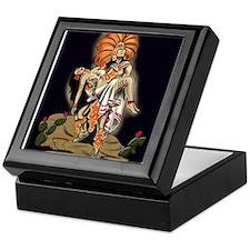 Aztec Warrior and Maiden Keepsake Box