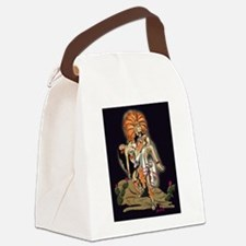 Aztec Warrior and Maiden Canvas Lunch Bag
