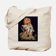 Aztec Warrior and Maiden Tote Bag