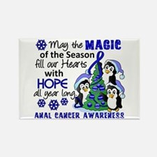 Holiday Penguins Anal Cancer Rectangle Magnet
