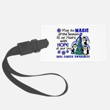 Holiday Penguins Anal Cancer Luggage Tag