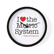 I Love Metric Wall Clock