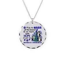 Holiday Penguins Arthritis Necklace